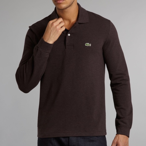 bb964c7a2fab3 Lacoste Other - LACOSTE Polo Long Sleeve Dark Brown Size (5) Large